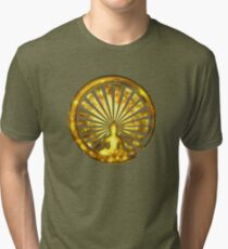 Enso Zen Circle of Enlightenment, Meditation, Buddha, Buddhism, Japan Tri-blend T-Shirt