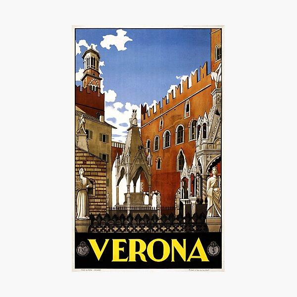 Vintage Verona Italy Architecture Travel Photographic Print