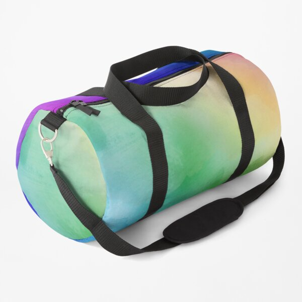 Rainbow watercolors Duffle Bag