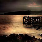 Night Falling on Portencross Pier by George Crawford