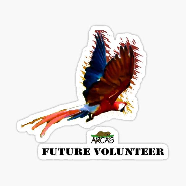 Future volunteer: macaw Sticker