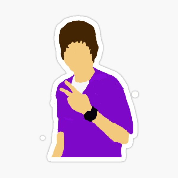 Justin Beiber drawing Sticker