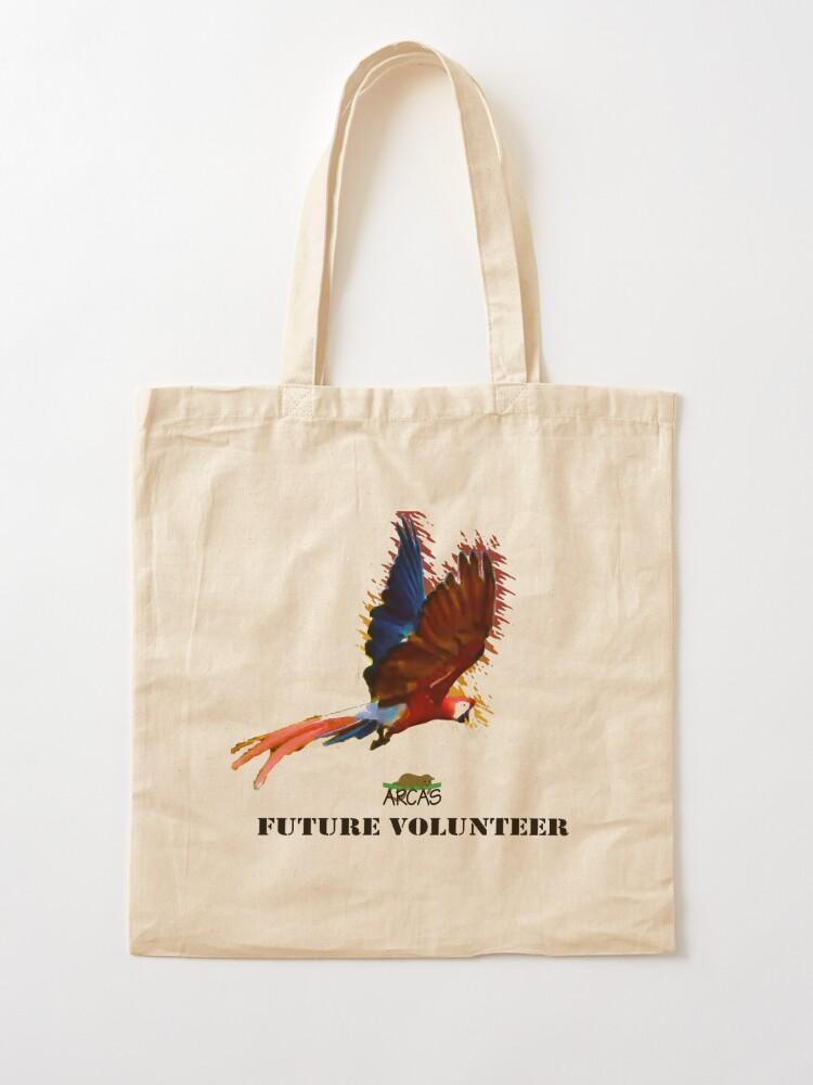 Alternate view of Future volunteer: macaw Tote Bag