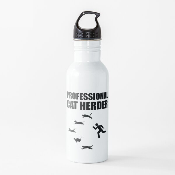 Professional Cat Herder Funny Herding Cats Water Bottle