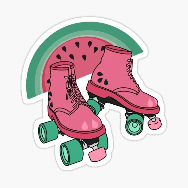 BRIGHT ROLLER SKATES Sticko Stickers Funky Patterned Rollerskates