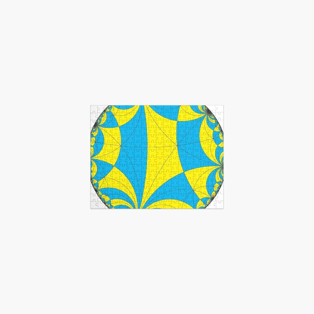 Tiling of the Lobachevsky space by Saccheri quadrangles, one of the cases of the Coxeter polytope. Замощение пространства Лобачевского четырехугольниками Саккери Jigsaw Puzzle