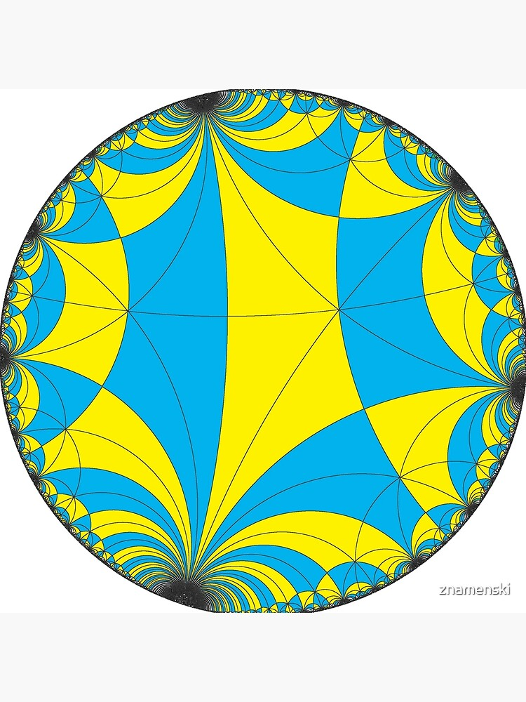 Tiling of the Lobachevsky space by Saccheri quadrangles, one of the cases of the Coxeter polytope. Замощение пространства Лобачевского четырехугольниками Саккери by znamenski