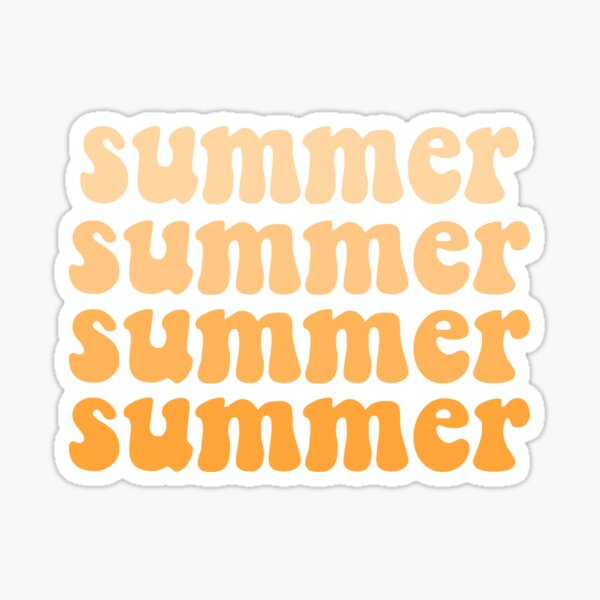 yellow ombre summer Sticker