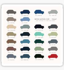 Austin Mini classic - 60's original car colours  Sticker