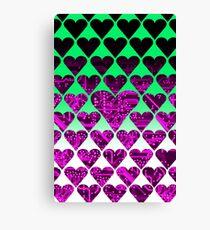 love circuit, violet Canvas Print