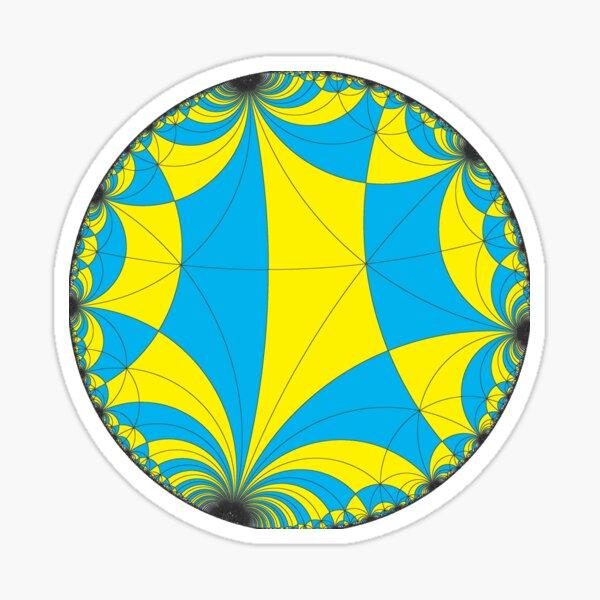 Tiling of the Lobachevsky space by Saccheri quadrangles, one of the cases of the Coxeter polytope. Замощение пространства Лобачевского четырехугольниками Саккери Sticker