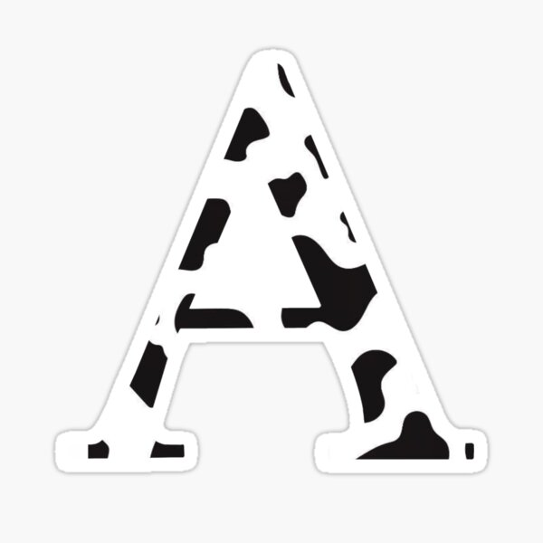 Alpha/A - Cow Print  Sticker
