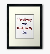 I Love Norway More Than I Love My Dog  Framed Print