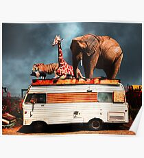 Barnum and Bailey Goes On a Road Trip 5D22705 Poster