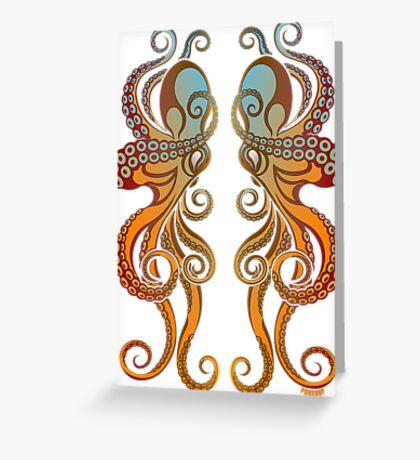 Mono Octopus (duo) #1 Greeting Card