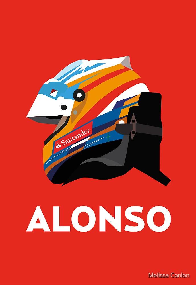 Fernando Alonso 2013 Season Helmet  by Melissa Conlon
