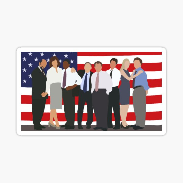 The West Wing Character Cartoon Sticker