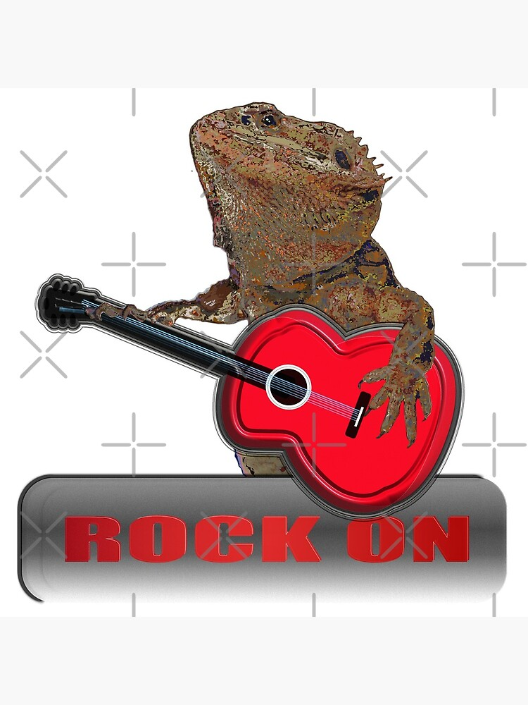 Bearded Dragon Plays Guitar by snibbo71