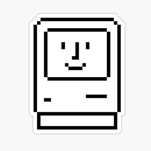 vintage happy mac Sticker