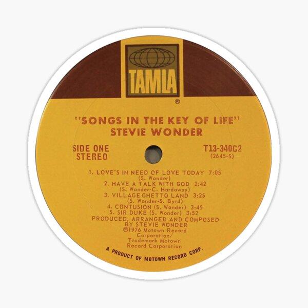 Stevie Wonder Songs in the Key of Life label Sticker