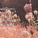 Like Wildflowers by Vintageskies