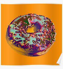 Donut Pop art print Poster