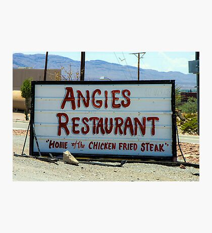 Angie's Restaurant In Fort Hancock...We Should've Stopped Photographic Print