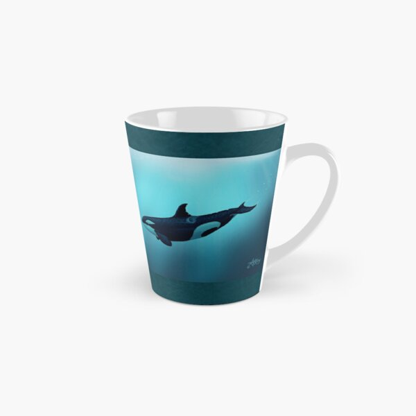 """""""Lost in Serenity"""" by Amber Marine ~ orca / killer whale art, © 2015 Tall Mug"""