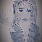 Sketch Mythical Girl by Shanna J. S. Dunlap