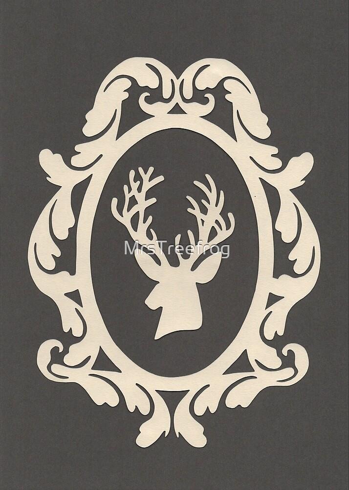Christmas Card - reindeer - steel by MrsTreefrog