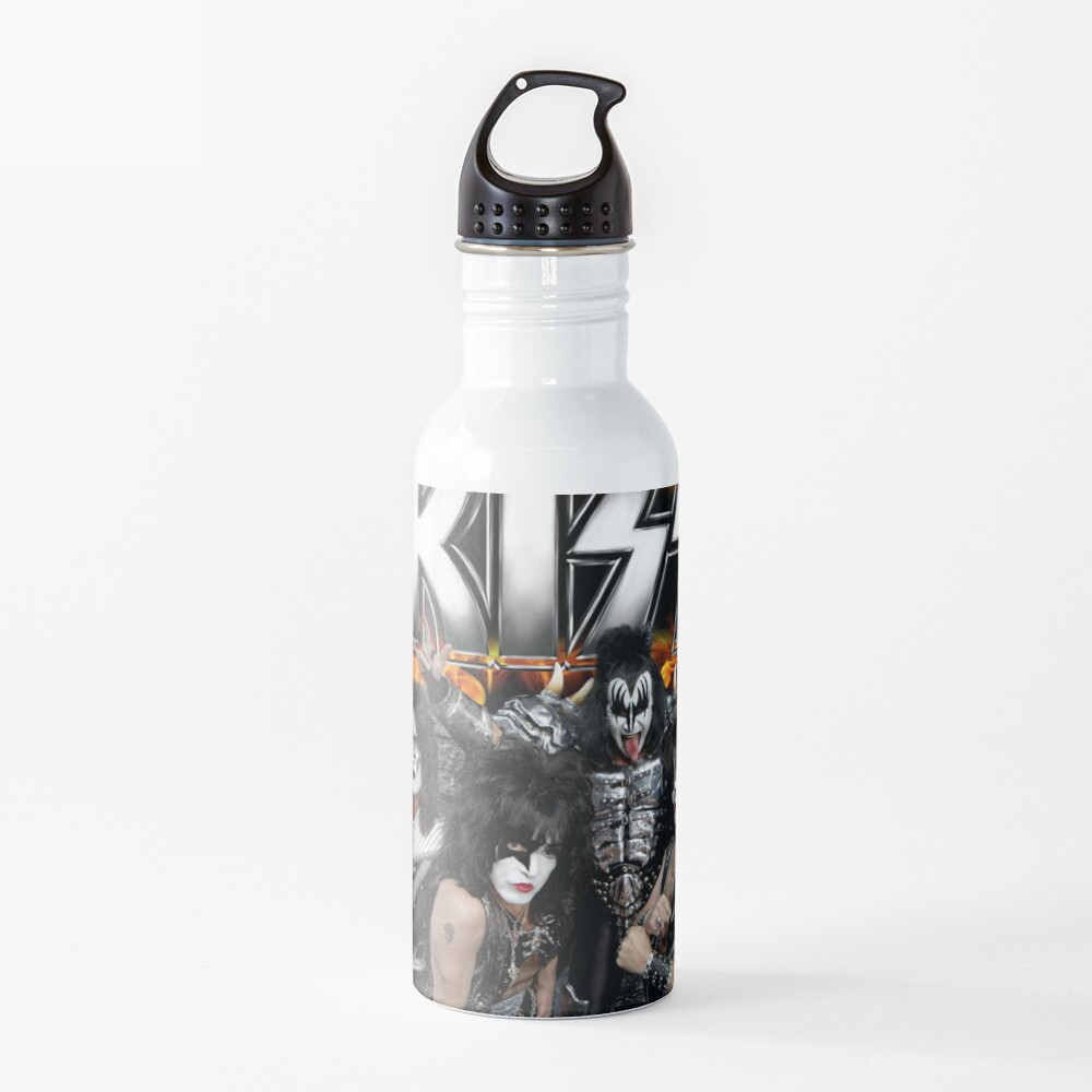 KISS with Logo and band Water Bottle