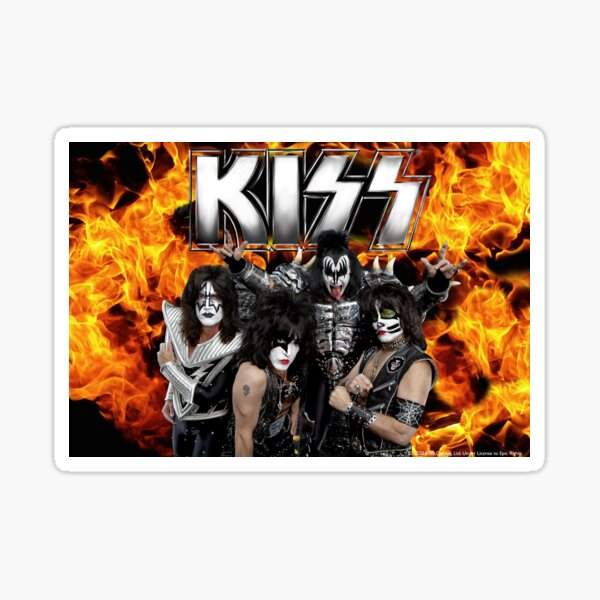 KISS with Logo and band Sticker