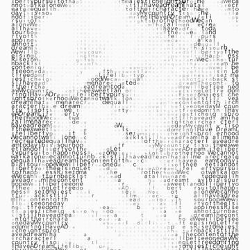 Martin Luther King Jr. - MLK Typographic by superstarink