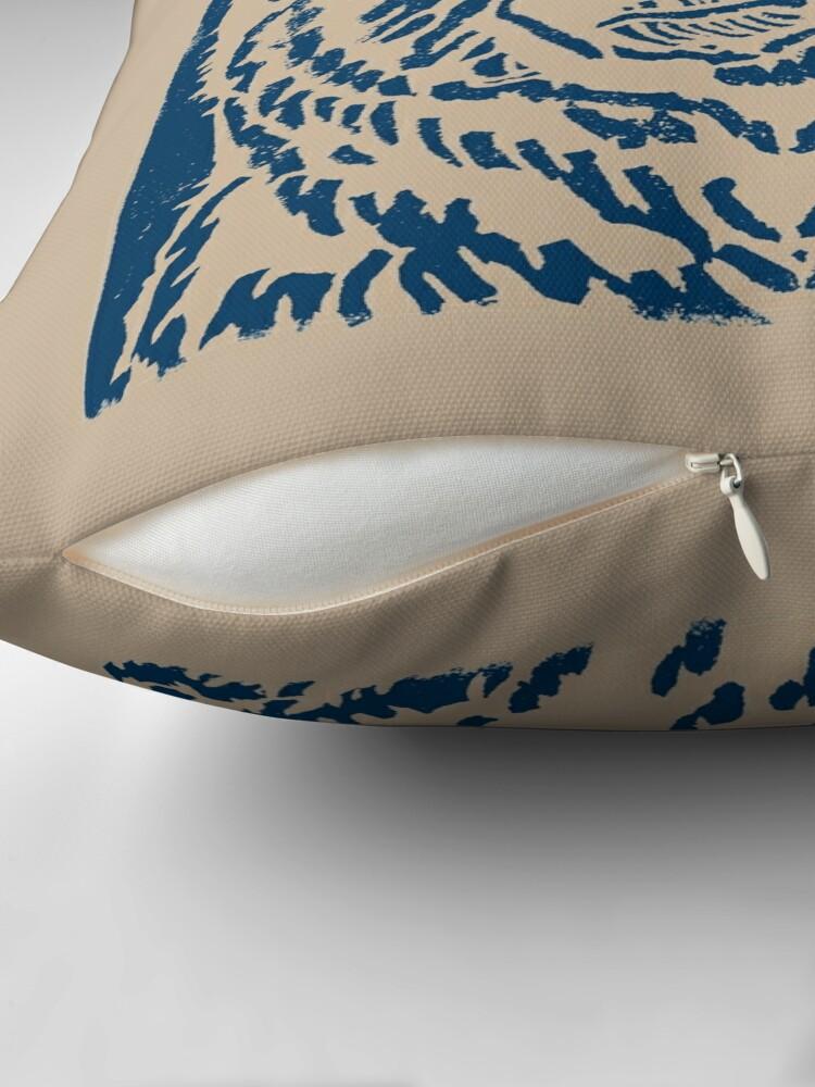 Alternate view of Blue Bear Throw Pillow
