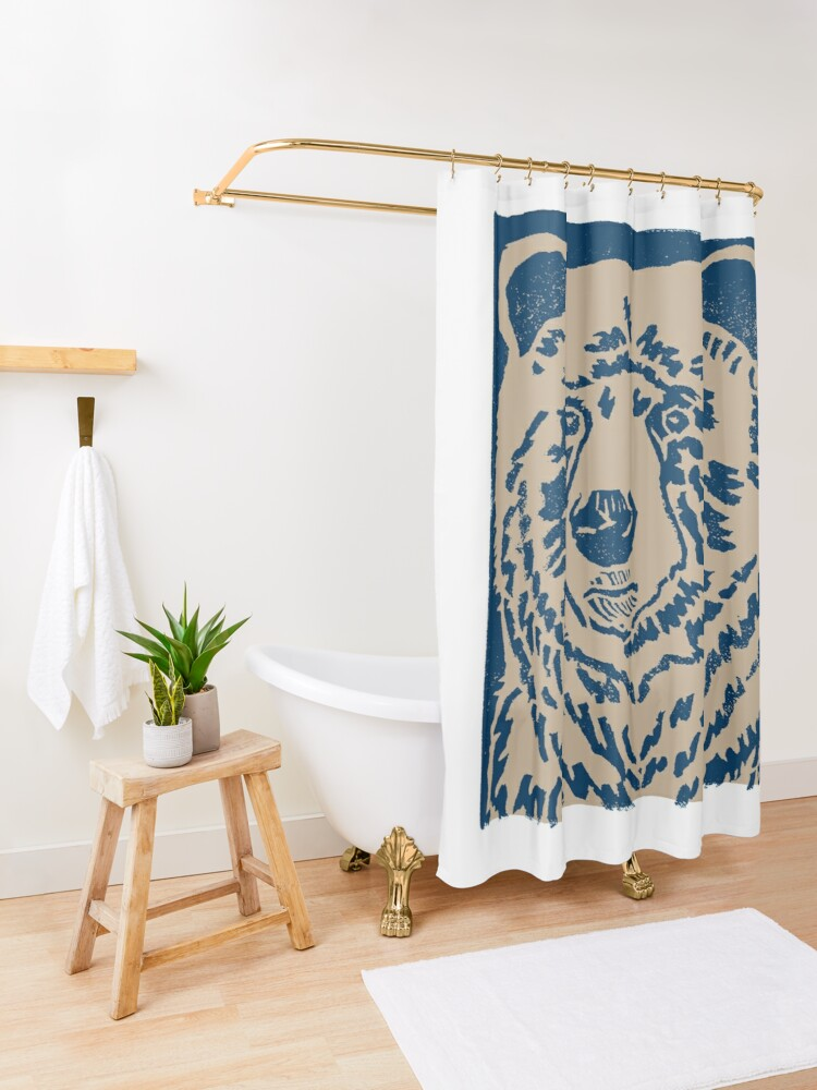 Alternate view of Blue Bear Shower Curtain