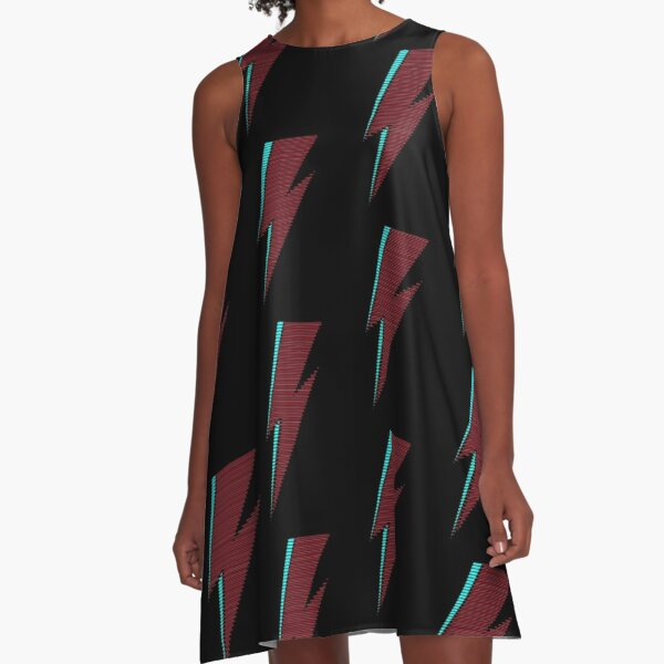 Minimalistic Tribute to David Bowie A-Line Dress