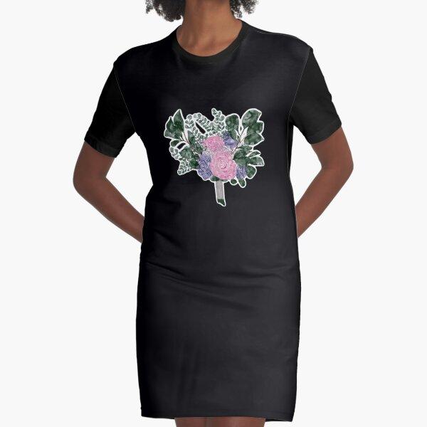 Aquarell Blumenstrauß  T-Shirt Kleid