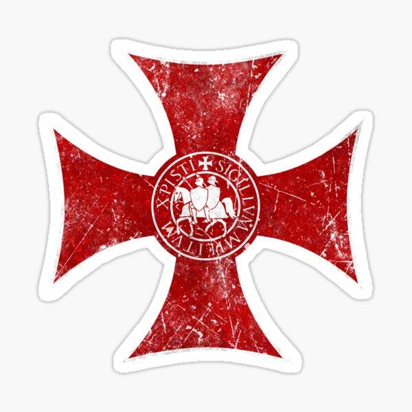 Croix standard des Templiers Sticker