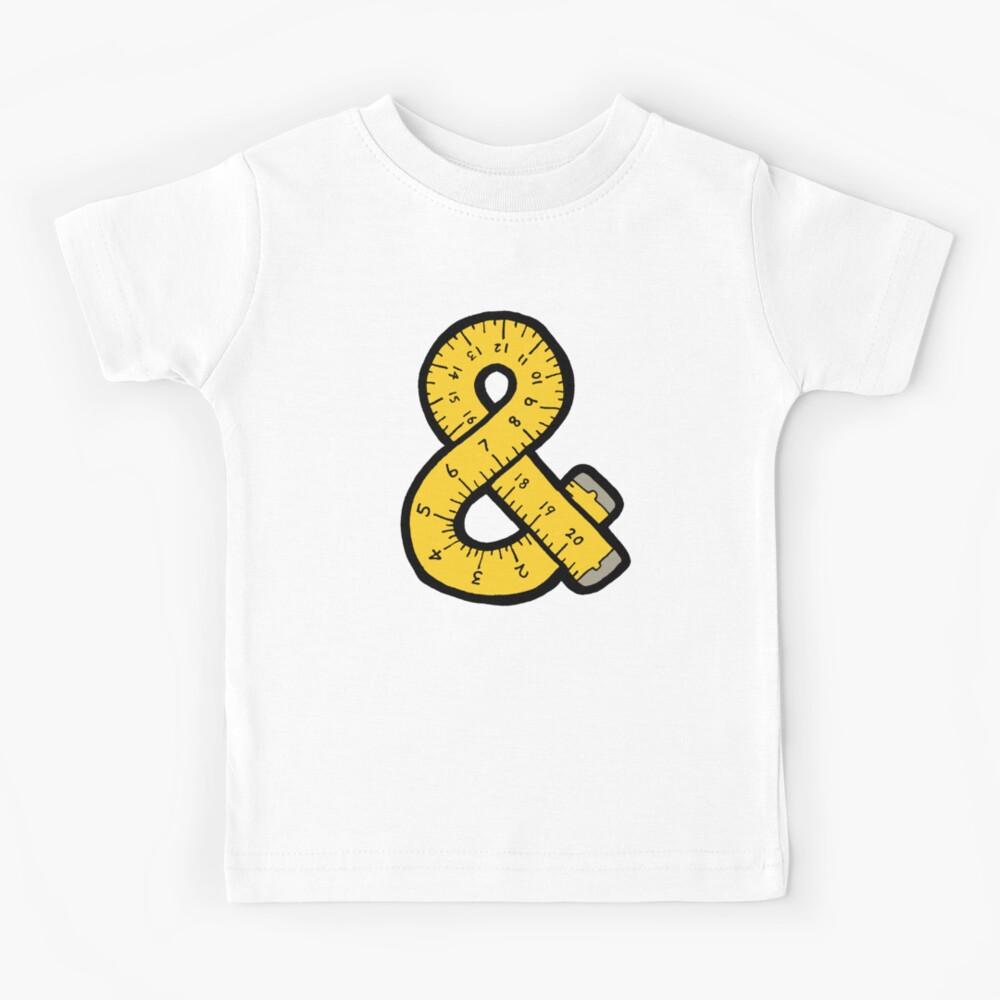 Ampersand Measuring Tape Kids T-Shirt