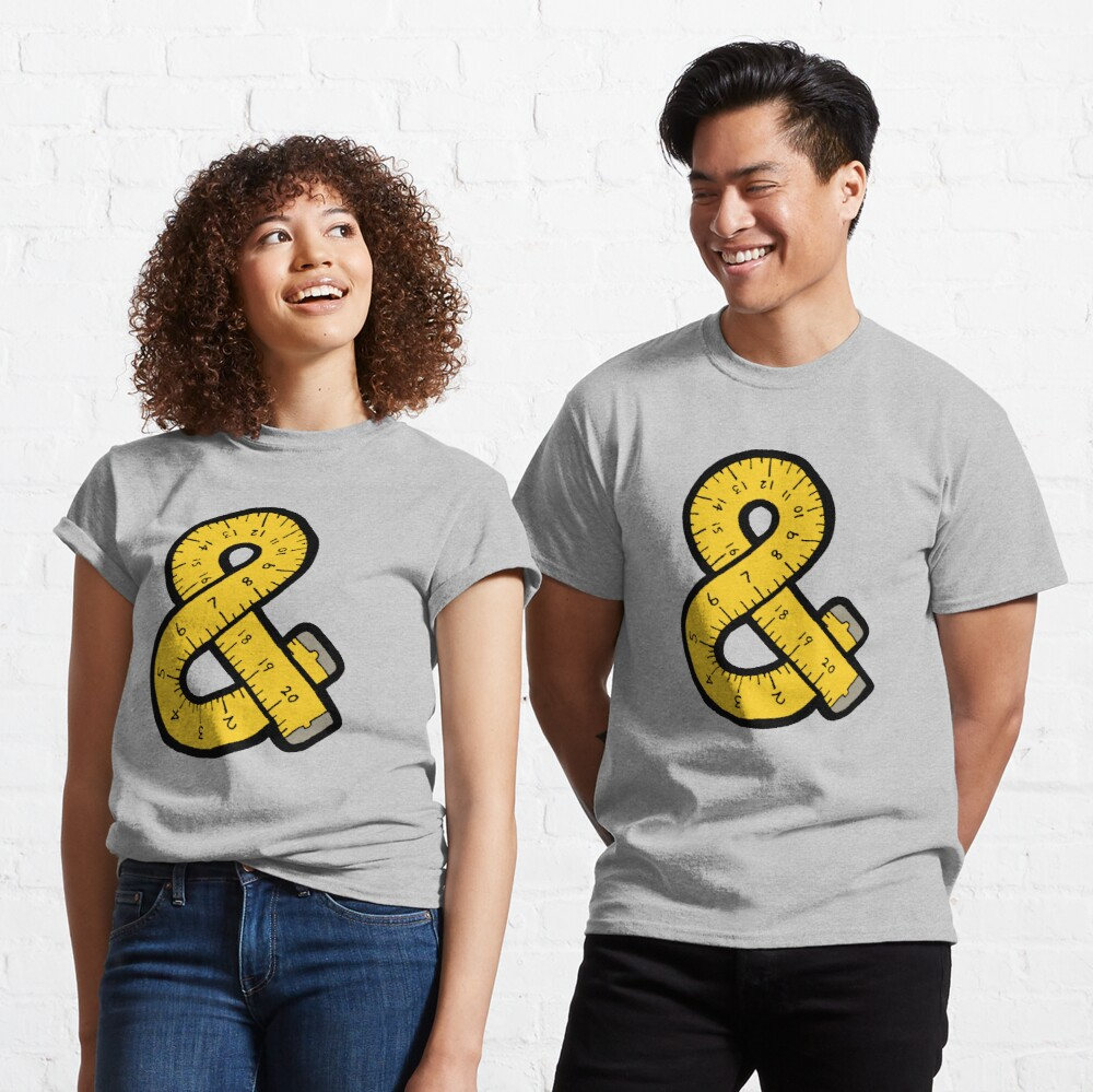 Ampersand Measuring Tape Classic T-Shirt