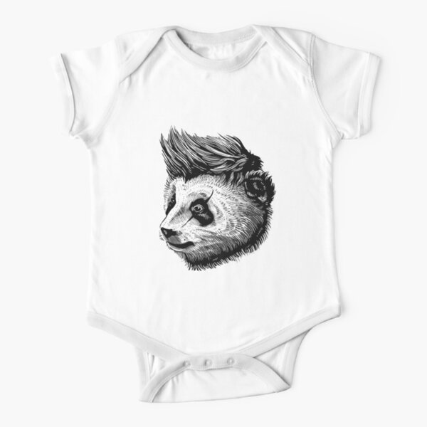 funky panda - Animal Theme Design Suitable for Men and Women Short Sleeve Baby One-Piece