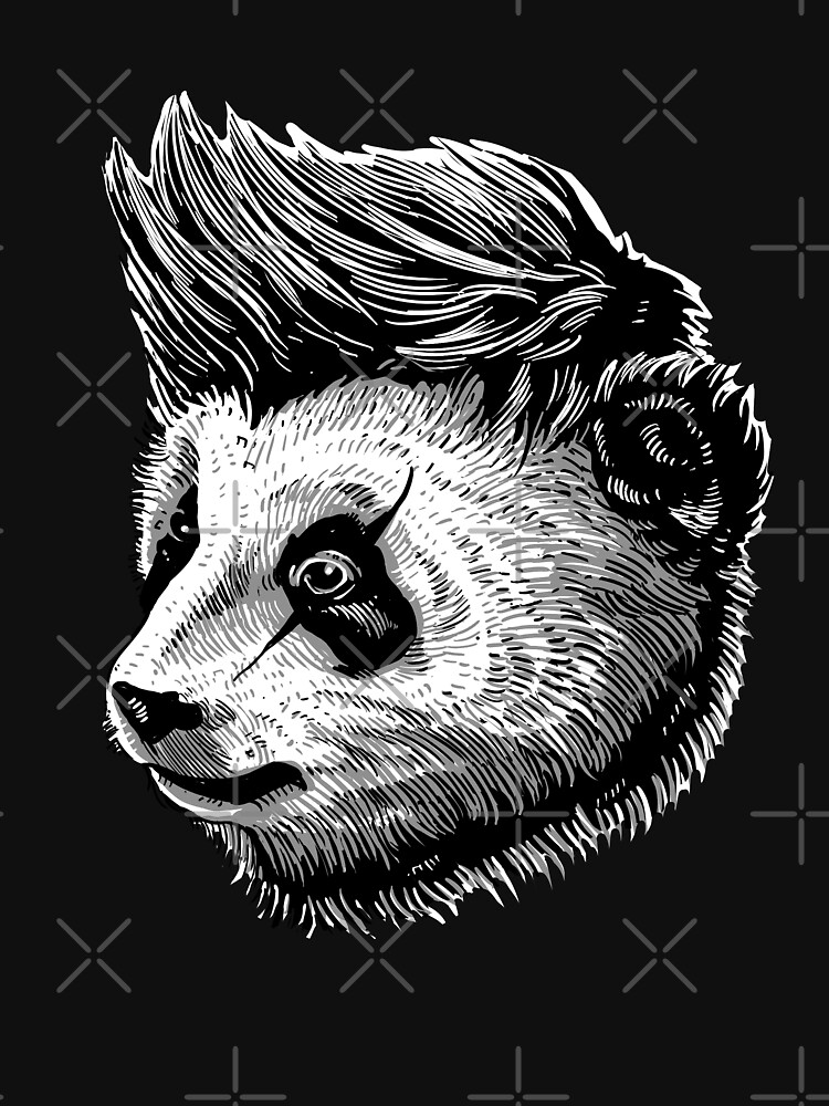 funky panda - Animal Theme Design Suitable for Men and Women by barmalisiRTB