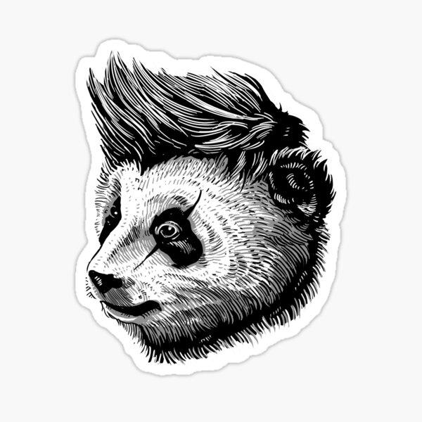 panda funky Pegatina