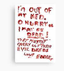 La note d'Eddie au Dr Scott Impression métallique