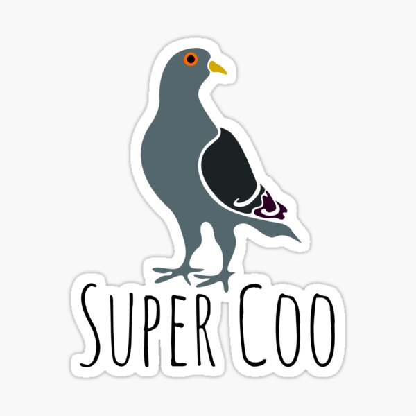 Super Coo - gift for Super Coo lovers - Funny Super Coo gift Sticker