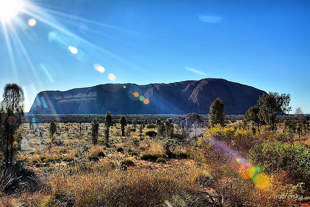 Uluru in blue by andreisky
