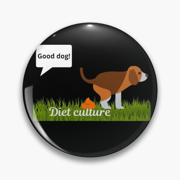 Dog Pooping on Diet Culture Pin