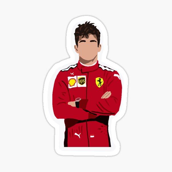 Charles Leclerc para Ferrari Pegatina