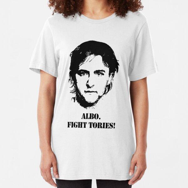 Albo. Fight Tories! Slim Fit T-Shirt