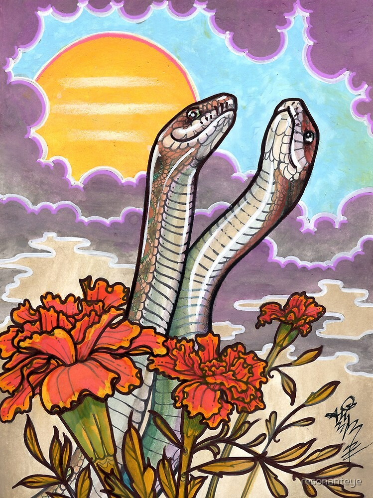 the rites of spring. (mating snakes) by resonanteye